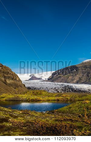 Skaftafell glacer lake