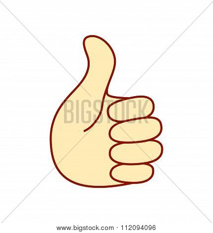 Blue thumb up business icon