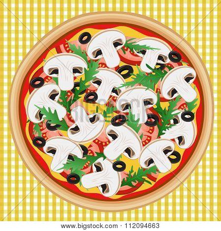 Pizza Mushroom Tomato