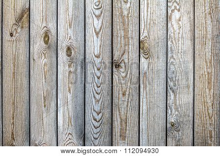 Old  Wooden Fence From Boards Of Pine With The Noble Gray And Yellow Tints