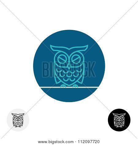 Calm Sleeping Owl Line Logo