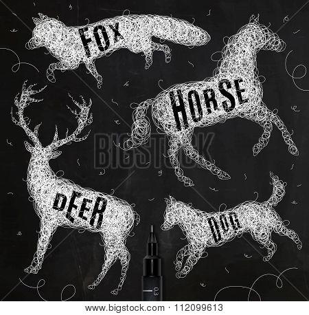 Tangled Line Deer