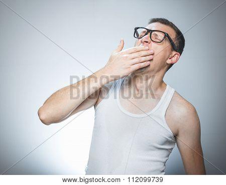 Man Yawning, Awakening