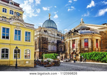 Dresden, Germany-september 08, 2015 : Dresden Castle (green Vault) In The Historic Center Of Dresden