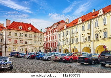 Prague, Czech Republic-september 5, 2015: Quarters And Streets On  Prague's Mala Strana(lesser Town