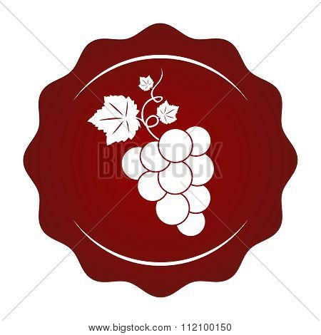 Vector Simple Grapevine Seal Waxing Stamp
