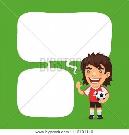 Soccer Player Speech Bubble