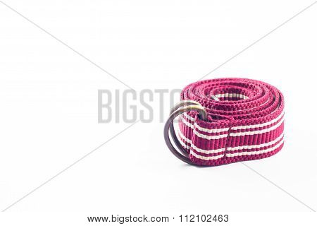 Roll Belts On White Background