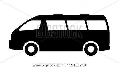 Vector set of silhouettes of passenger cars.