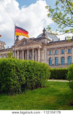 Reichstag Building And German Flag, Berlin