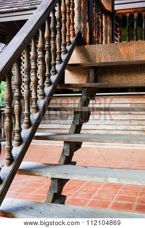 Wooden Bannister Of The Stair