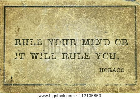 Rule Mind Horace