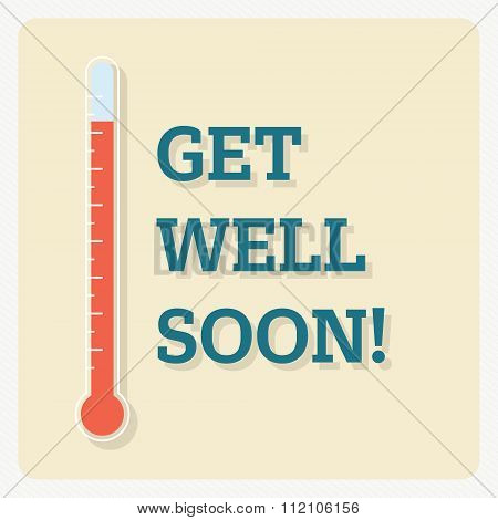 Get well soon! - vector eps10