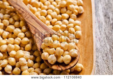Grains Of Raw Chickpeas