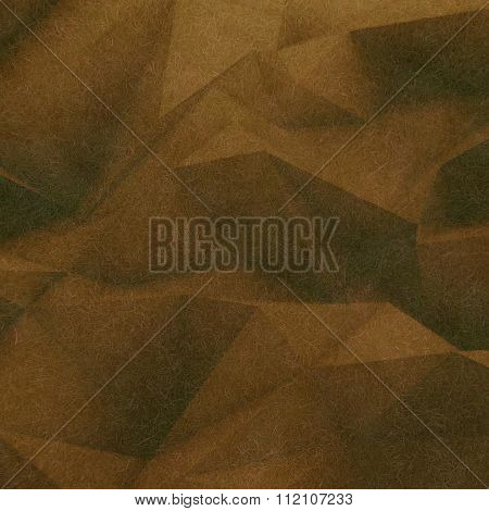 Abstract retro low poly background brown soft color textured with small thin fiber
