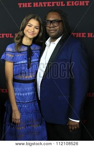 LOS ANGELES - DEC 7:  Zendaya, Kazembe Ajamu Coleman at the