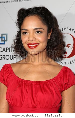 LOS ANGELES - DEC 8:  Tessa Thompson at the 25th Annual Simply Shakespeare at the Broad Stage on December 8, 2015 in Santa Monica, CA