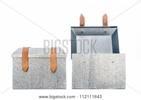 Two Metal Tool Box On White Background
