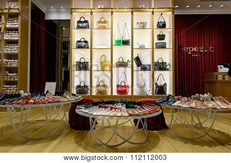 SINGAPORE - NOVEMBER 08, 2015: interior of store in The Shoppes at Marina Bay Sands. The Shoppes at Marina Bay Sands is one of Singapore's largest luxury shopping malls