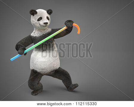 Fatty Personage Character Animal Bear Panda Danicng Cane