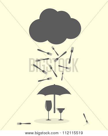 Raining Fork Kitchen Cutlery