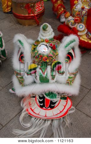 Chinese Traditional Lion Dance Head