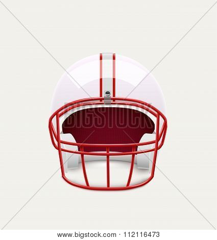 american football helmet realistic object front view