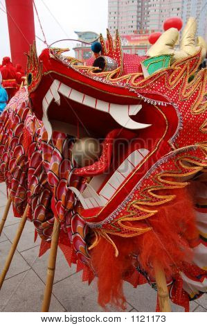 Chinese Traditional Dragon Dance Head