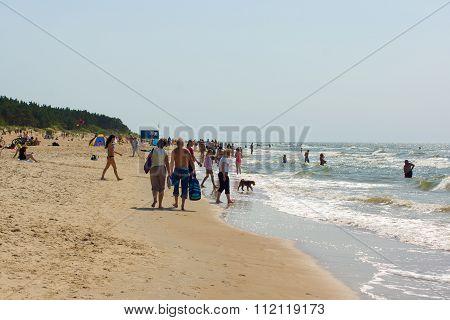 Summer On A Beach In A Palanga