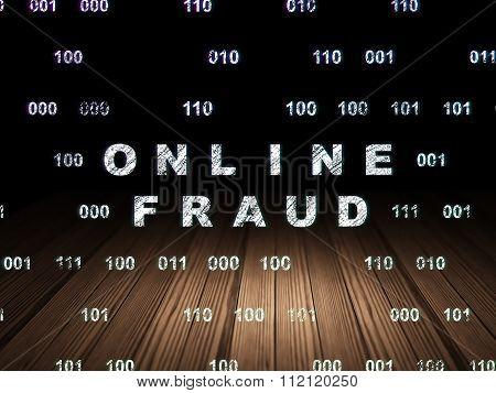 Safety concept: Online Fraud in grunge dark room