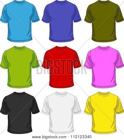 Men T-shirt template