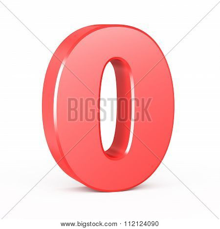three-dimensional number in red