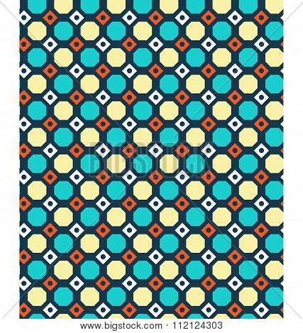Seamless geometric bright abstract pattern