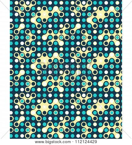 Seamless futuristic abstract pattern
