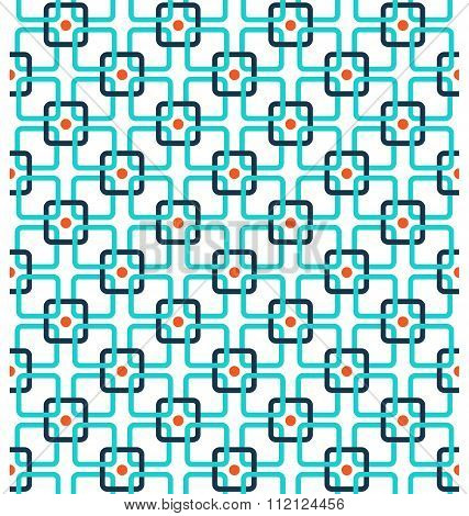Seamless contrast abstract pattern with squares isolated on whit