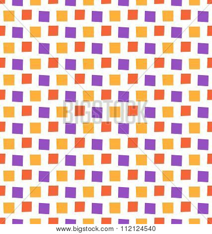 Seamless bright fun abstract mosaic pattern isolated on white