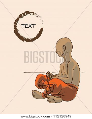 Monk, Little Boy In Orange Clothes