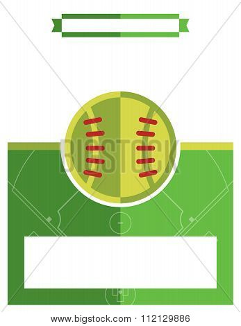 Softball Game Flyer Illustration