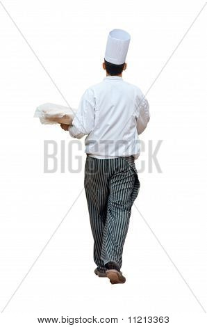 Chef Carrying Food
