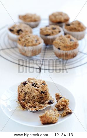 Healthy wholewheat bran muffin, a nutritious and fibre rich breakfast