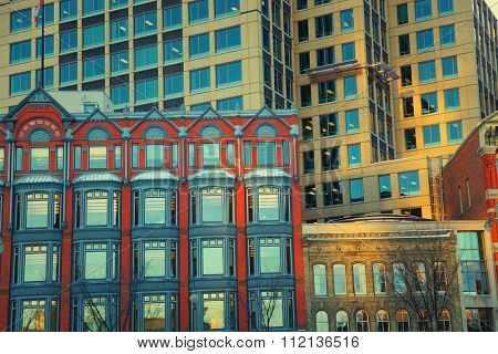 View of different facade of buildings in Ottawa, Canada