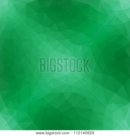 Light Green Polygonal Pattern