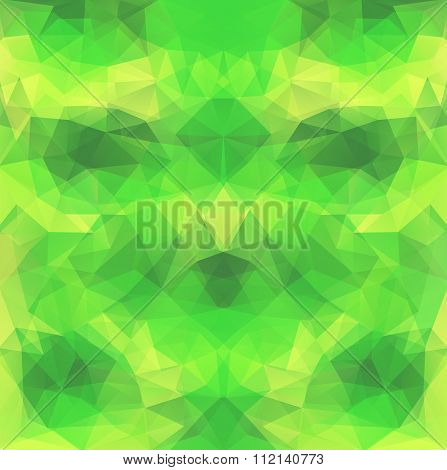 Yellow-green Polygonal Vector Background