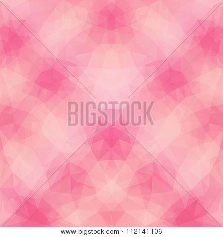 Light Pink Polygonal Pattern