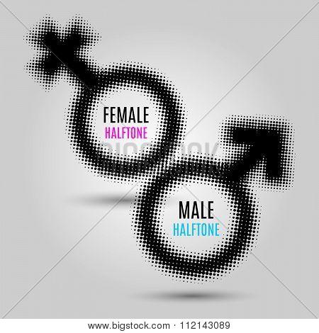 Gender halftone symbols