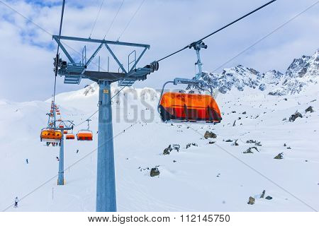 Chair-lift, Ischgl, Austria.