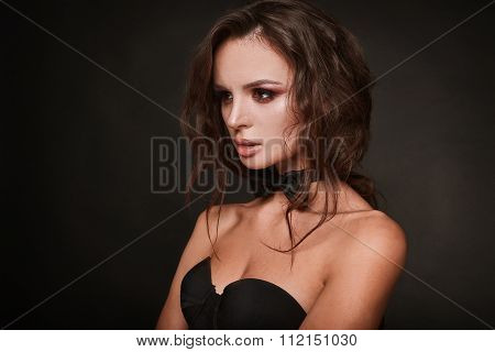 Beauty Portrait Of Young Swag Sexy Woman