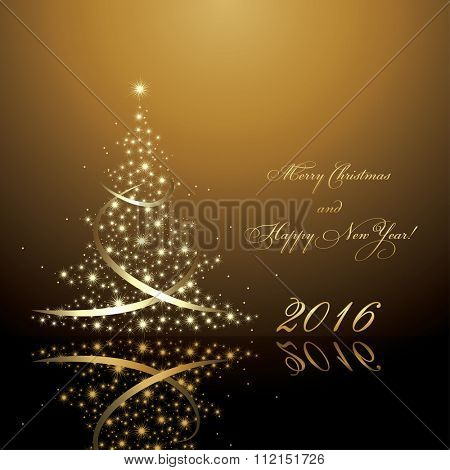 Vector new year tree / Christmas tree