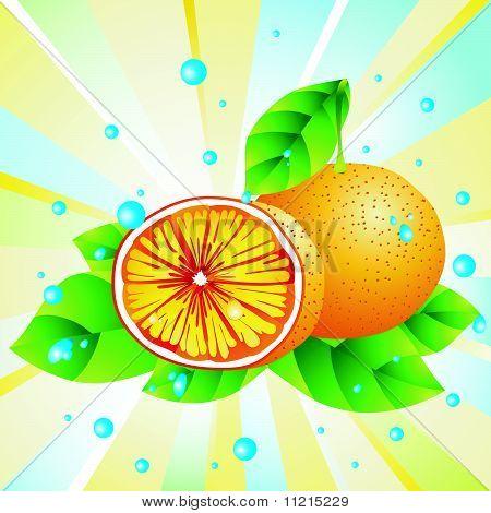 Fresh orange.