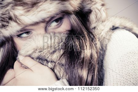 Young Lady In Winter Hat